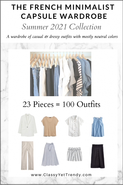 The French Minimalist Capsule Wardrobe: Summer 2021 Collection
