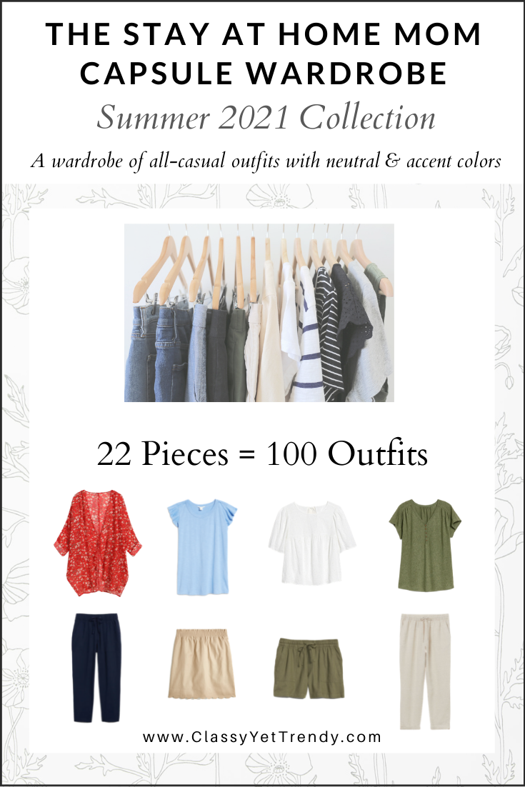 Stay At Home Mom Capsule Wardrobe Summer 2021 cover