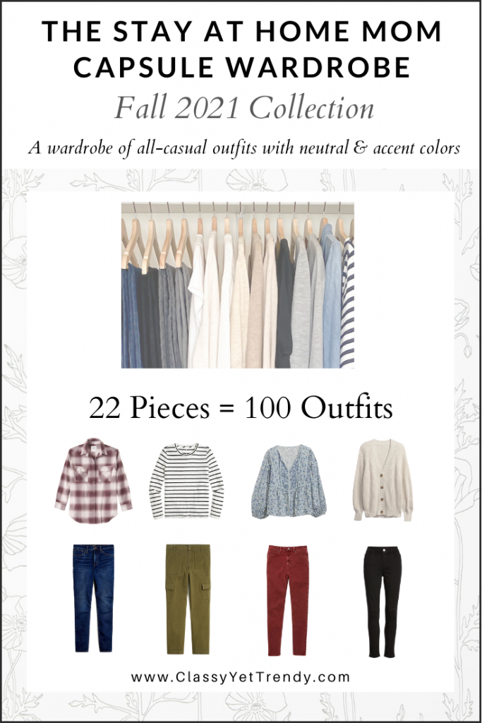 Stay At Home Mom Capsule Wardrobe Fall 2021 cover